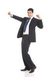 gesturing бизнесмена счастливый Стоковая Фотография RF