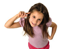 gesturing девушка стоковое изображение