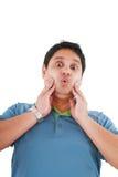 gesturing детеныши удивленные человеком Стоковая Фотография