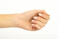 gesturing женщина manicure руки Стоковые Фото