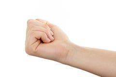 gesturing женщина manicure руки Стоковые Изображения RF