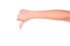 Gesturing изолированная рука Стоковая Фотография