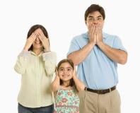 gesturing семьи стоковое изображение