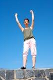 gesturing девушка подростковая Стоковые Фотографии RF
