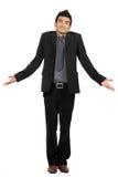 бизнесмен делает gesturing знает не знак портрета стоковое фото rf