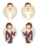 Gesturing business person set Royalty Free Stock Photo