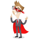 Gesturing businessman superhero Royalty Free Stock Photography