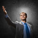 Gesturing businessman Royalty Free Stock Photo