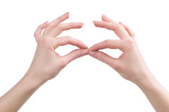 Gesturing. Royalty Free Stock Images