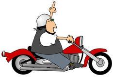 Gesturing del motociclo illustrazione di stock