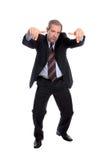 Gesturing dell'uomo di affari immagini stock