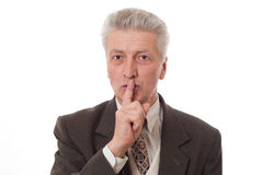 gesturing dell'uomo di affari pollici Fotografia Stock