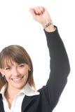 Gesturing della donna di affari Fotografia Stock