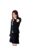 Gesturing della donna di affari Fotografia Stock Libera da Diritti