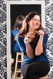 Gesturing divertente Immagini Stock