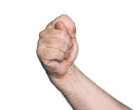 Gesturing with finger hand. Isolated on white background Stock Photo