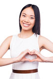 Gesturing finger heart. Royalty Free Stock Photo