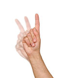 Gesturing hand Stock Images