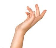 Gesturing hand Stock Photo