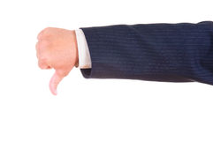 Gesturing hand isolated Royalty Free Stock Photography