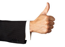 Gesturing hand OK. Isolated on white Royalty Free Stock Photography
