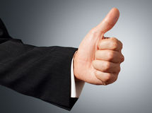 Gesturing hand OK. Color photography Royalty Free Stock Images