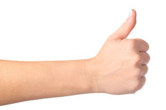 Gesturing hand OK isolated. On white Royalty Free Stock Photography