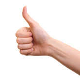 Gesturing hand OK isolated Royalty Free Stock Image