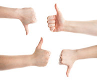 Gesturing hands Stock Images
