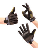 Gesturing hands in sport wear Stock Images