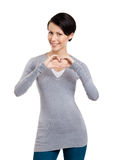 Gesturing a heart Stock Photography