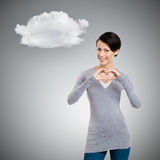 Gesturing a heart Royalty Free Stock Image