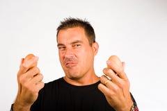 Gesturing macho Fotografie Stock Libere da Diritti