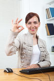 Gesturing OK Royalty Free Stock Photos