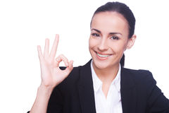 Gesturing OK sign. Stock Images