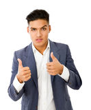 Gesturing positive Royalty Free Stock Images