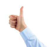 Gesturing thumb hand Royalty Free Stock Image