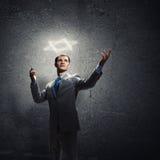 Gesturing uomo d'affari Immagine Stock