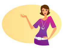 Gesturing woman Stock Images