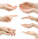 gesty wręczają odosobnionego set Zdjęcia Royalty Free