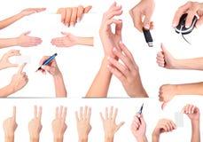 gesty wręczają odosobnionego set Obrazy Royalty Free