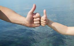 gesty wręczają pokazywać Obrazy Stock