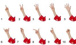 gesty wręczają robienie womans Zdjęcia Royalty Free