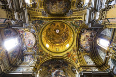 Gesu的教会,罗马,意大利 免版税库存照片