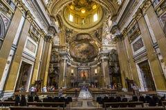 Gesu的教会,罗马,意大利 免版税图库摄影