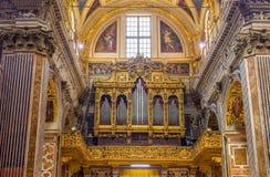 Gesu e dei Santi Ambrogio e Andrea church of Genova, Italy. Stock Images