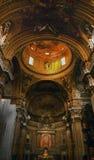 Gesu Jesuit-Kirche innerhalb der goldenen Haube Rom Italien lizenzfreies stockfoto