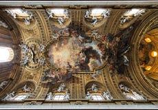 Gesu Kirche, Rom stockbilder