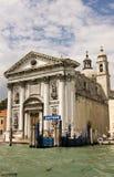 Gesuati Church, Venice, Italy. The Gesuati Church on the Zattere quayside in Venice, Italy.  The church was designed by architect Giorgio Massari in 1726 and Stock Photography