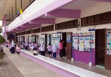 Gesubsidieerde lage school in Thailand 3 Stock Foto's